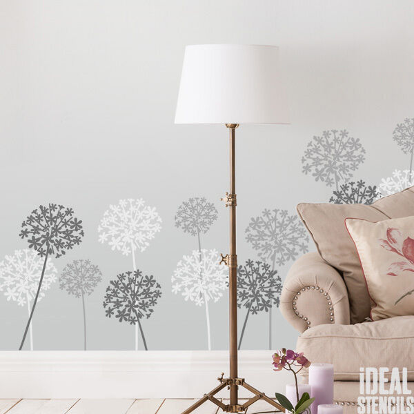 Wall Art Decor Stencils : Allium flower stencil floral home wall d?cor art craft