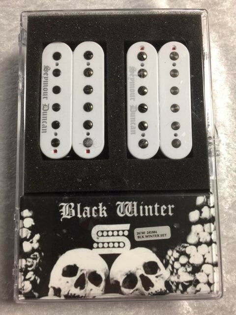 Black Winter Pickup : seymour duncan black winter humbucker pickup set in white with black screws ebay ~ Vivirlamusica.com Haus und Dekorationen