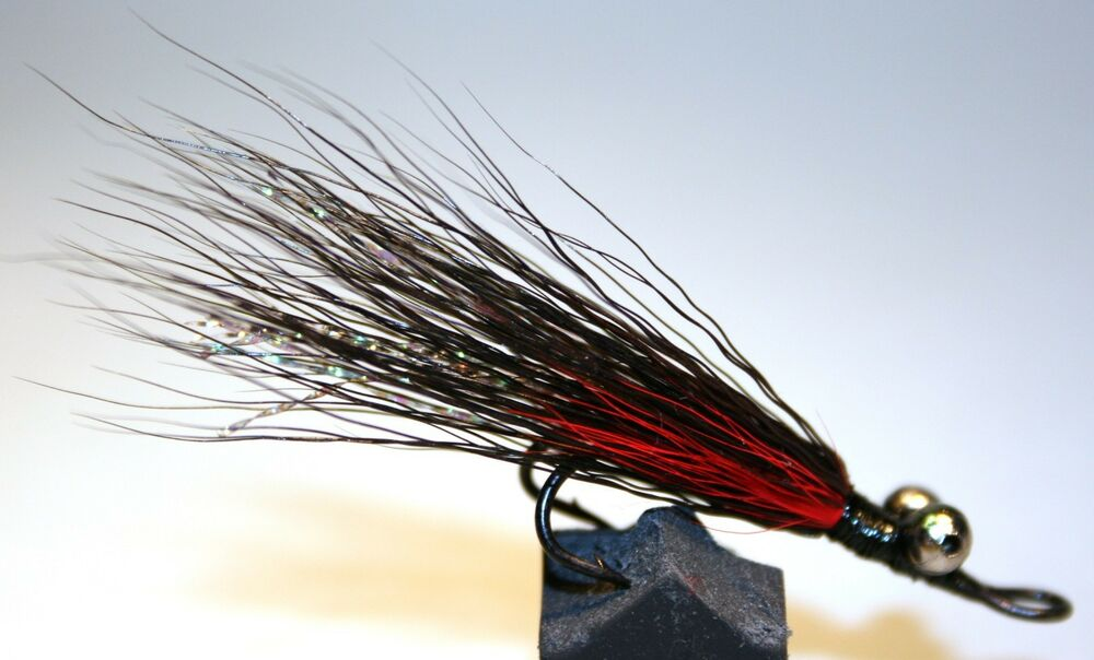 Ice flies streamer fly the cat trout double hook size for Ice fishing flies