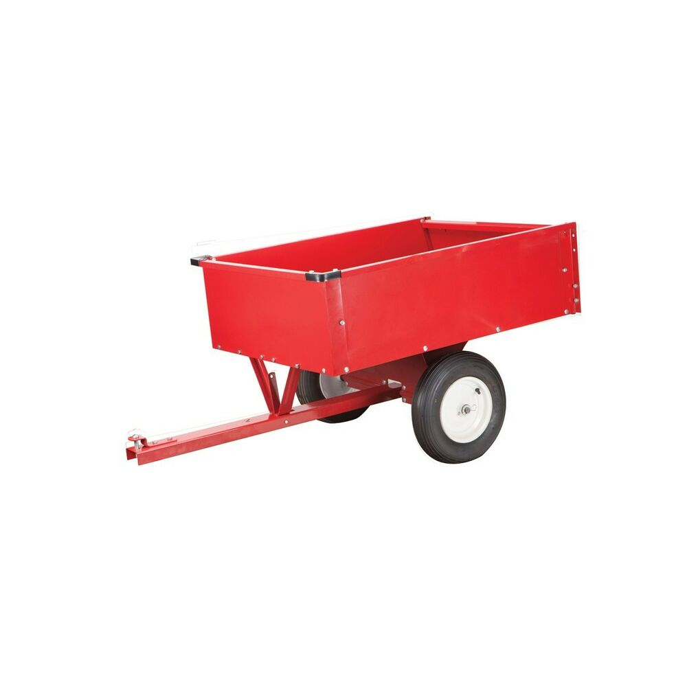 Garden Tractor Stand : Hd garden utility dump cart trailer cu ft fertilizer