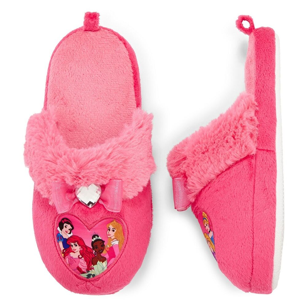 disney princess kids girls warm rhinestone bedroom slippers new ebay