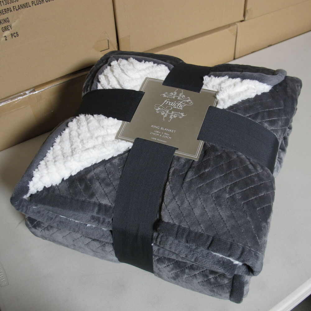 Luxurious Sherpa Flannel Plush Quilted Blanket Large  : s l1000 from www.ebay.com size 1000 x 1000 jpeg 127kB