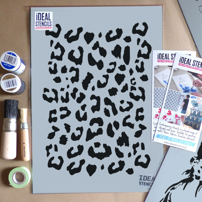 Leopard print stencil home d cor art and craft stencils ebay for Arts and crafts stencils craftsman