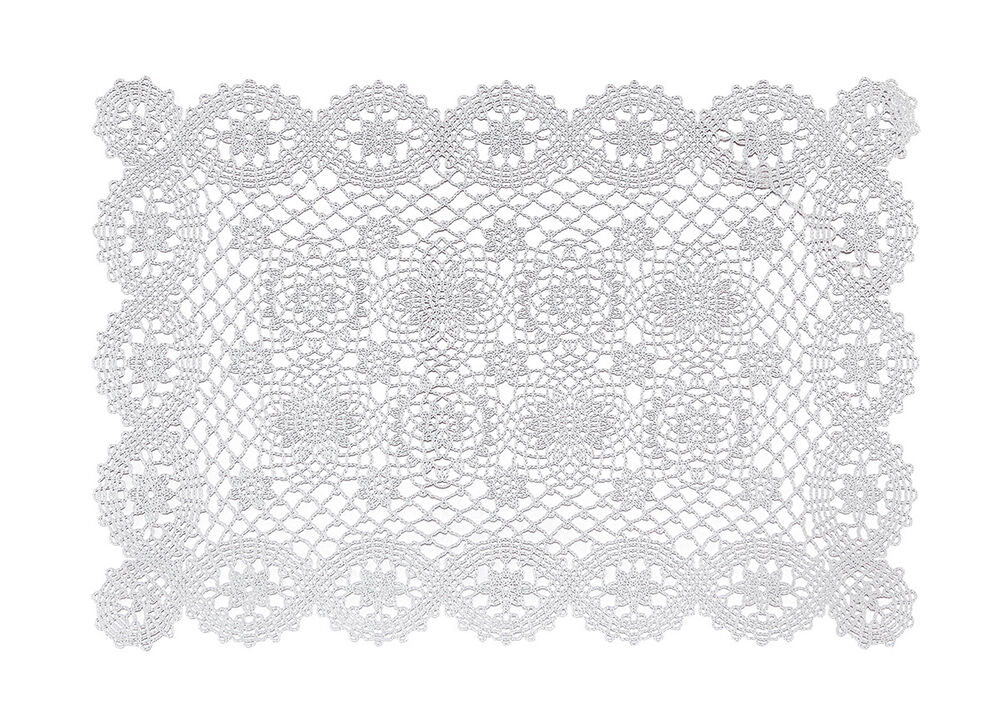 Vinyl Placemats Plastic Table Mats Kitchen Dining White
