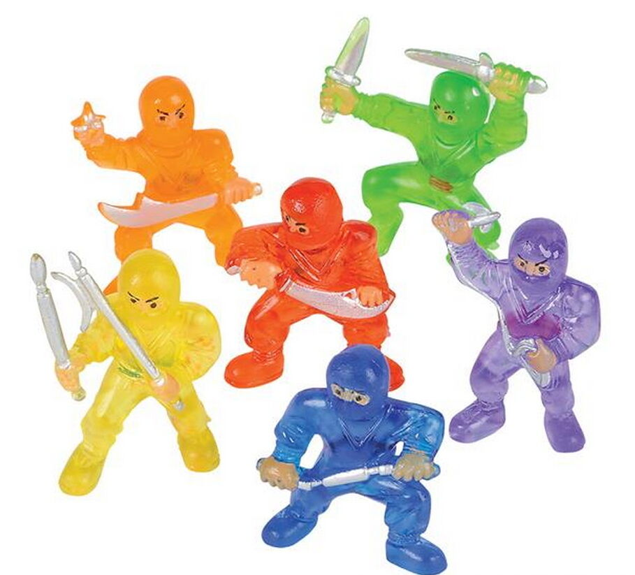 Mini Ninja Toys : Ninja fighters toy figurines bulk wholesale cake