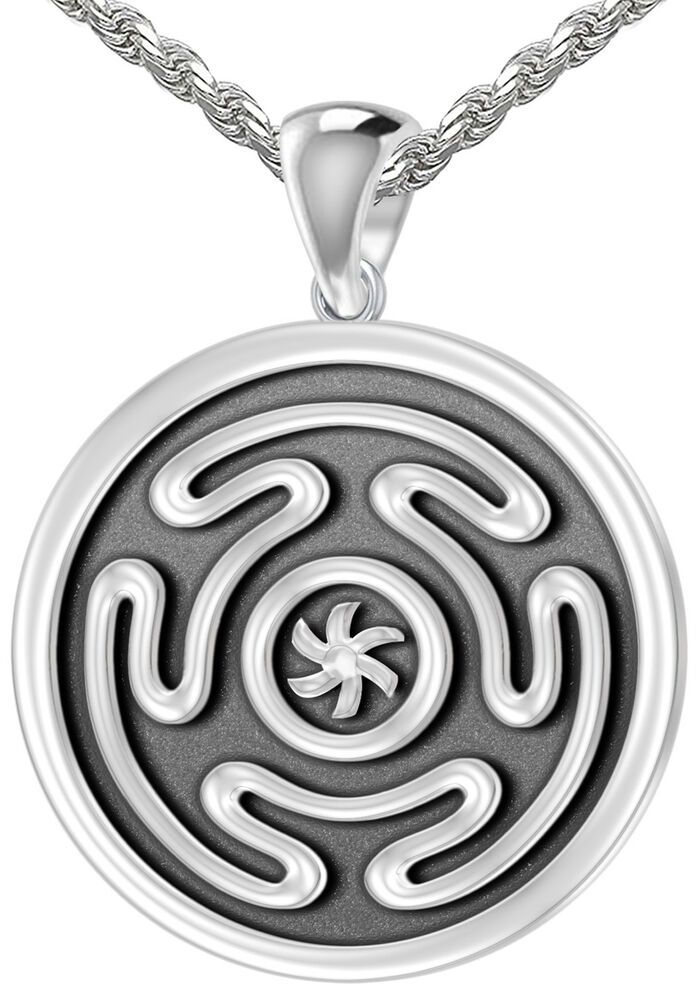 New 0 925 Sterling Silver Greek Wheel Of Hecate Pendant