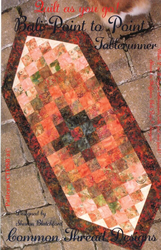 Bali Point To Point Table Runner Pattern Strip Quilt As