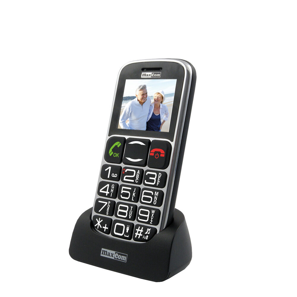 unlocked big button senior mobile phone easy to use sos ice2 button maxcom 461 ebay. Black Bedroom Furniture Sets. Home Design Ideas