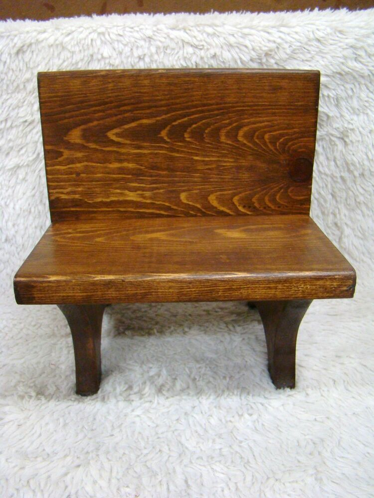 Handcrafted wooden doll stuffed animal bench furniture decorative home decor ebay Decorative benches