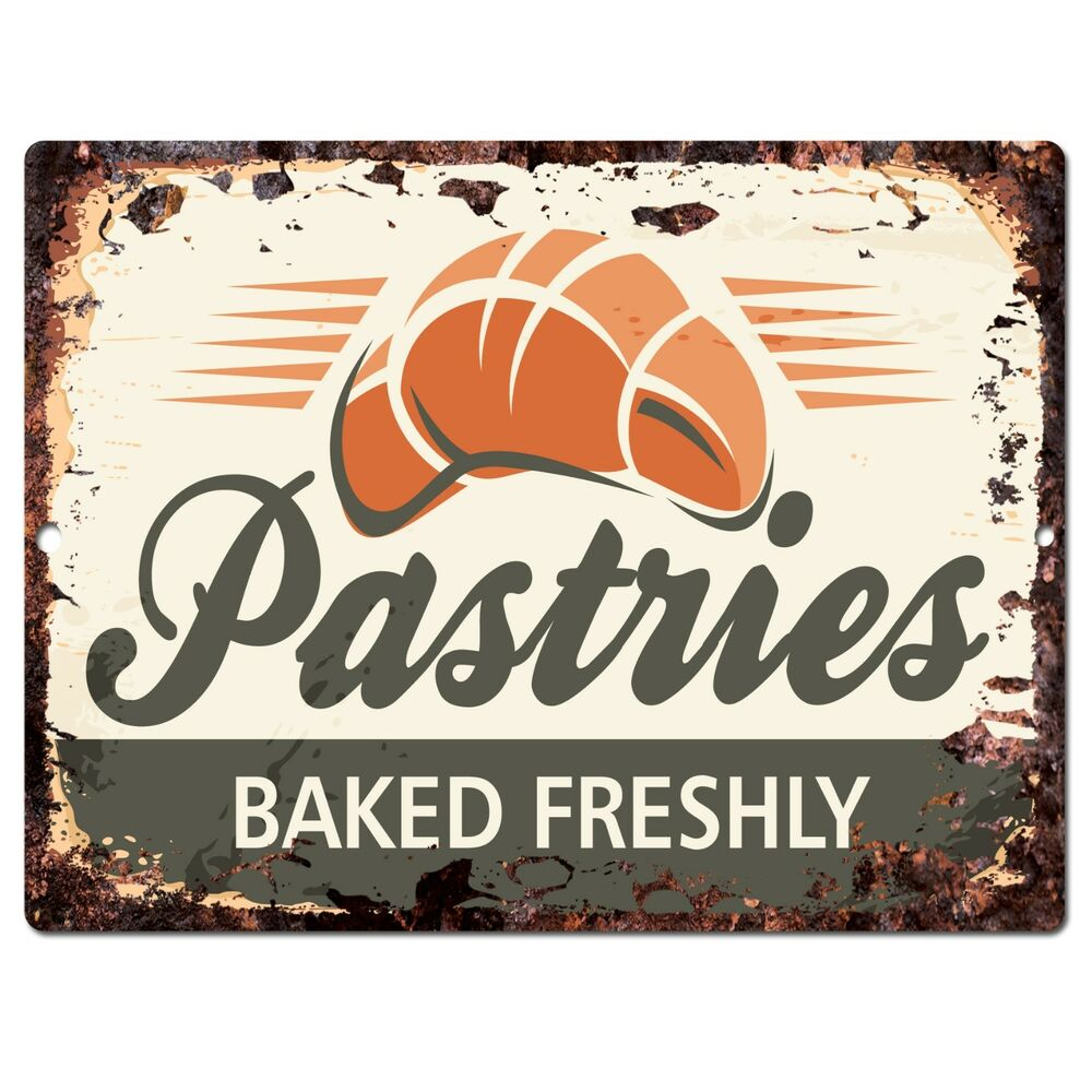 pp0294 rust pastries sign home kitchen store shop cafe