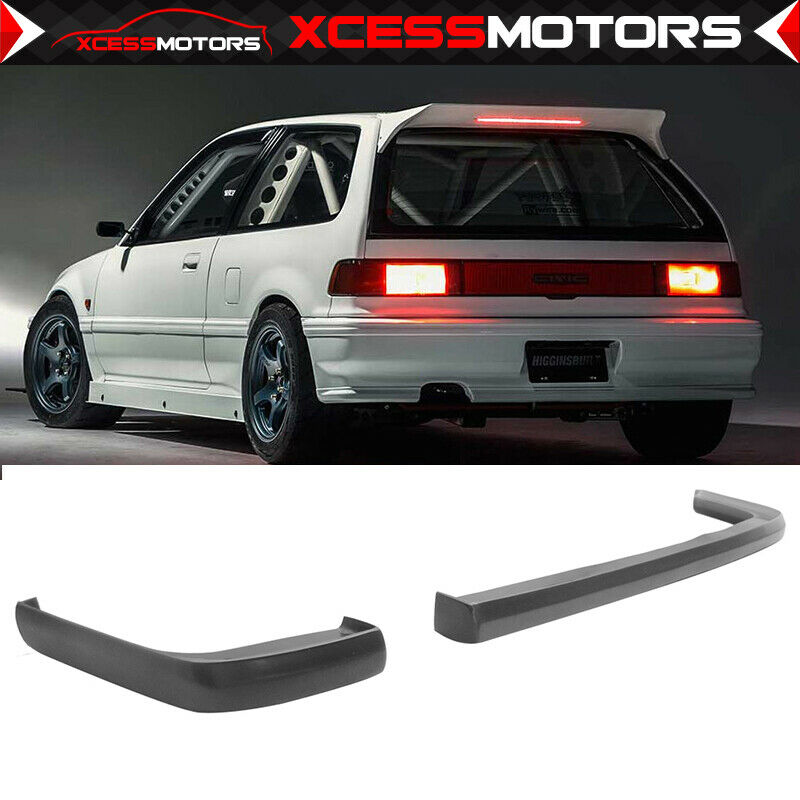 Fit 88 91 Civic 2d 3dr Jdm Ikon Lip 2pc Rear Bumper Lip