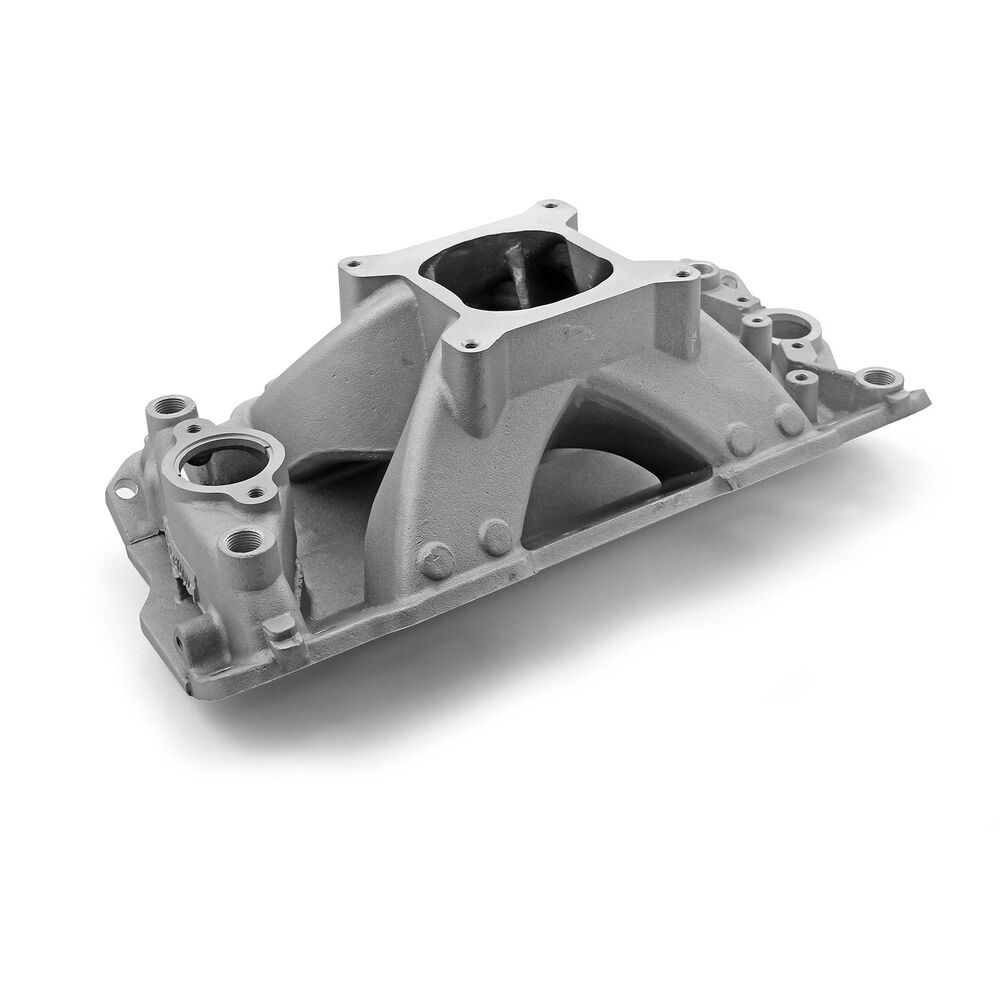 SBC SMALL BLOCK CHEVY Scorpion Aluminum Intake Satin 350