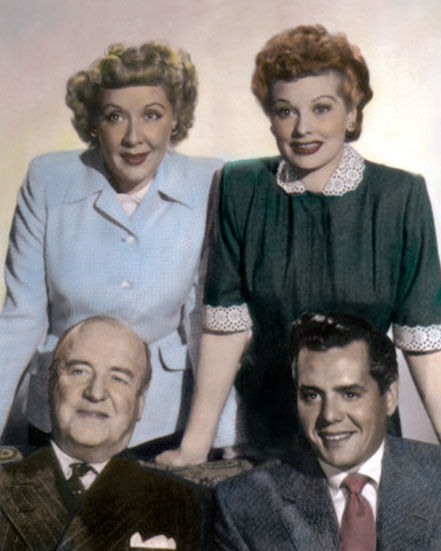 Cast Of I Love Lucy 1950s Television Comedy 8x10 Hand Color Tinted Photograph Ebay