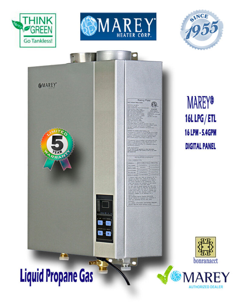 Marey Tankless Ga16lp Etl Liquid Propane 5 4 Gpm Whole