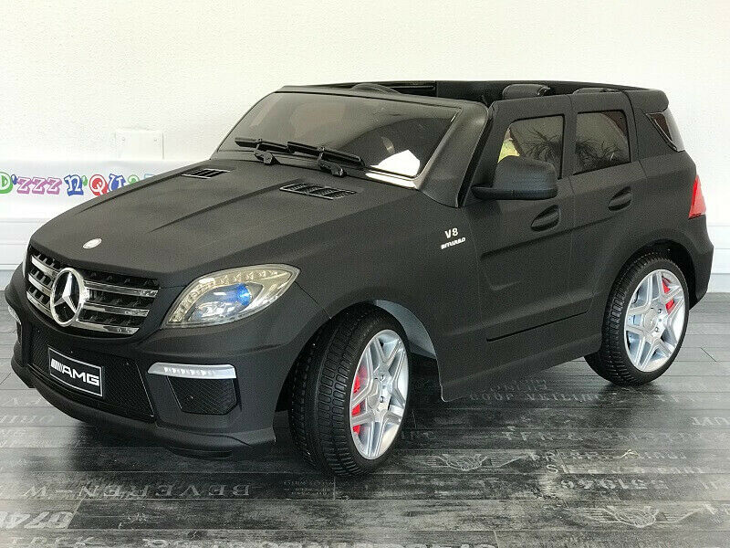 mercedes ml63 amg 12v voiture quad lectrique enfant version luxe noir mat ebay. Black Bedroom Furniture Sets. Home Design Ideas