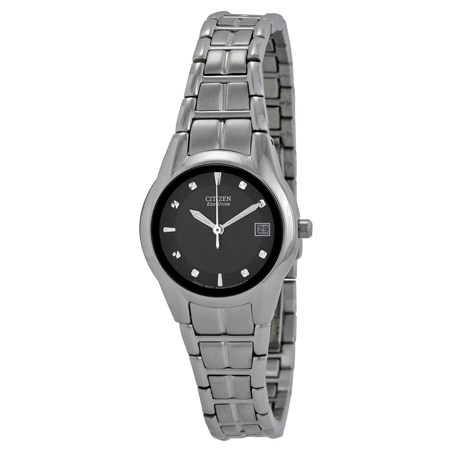 Citizen ladies eco drive stainless steel watch ew1410 50e ebay for Eco drive watch