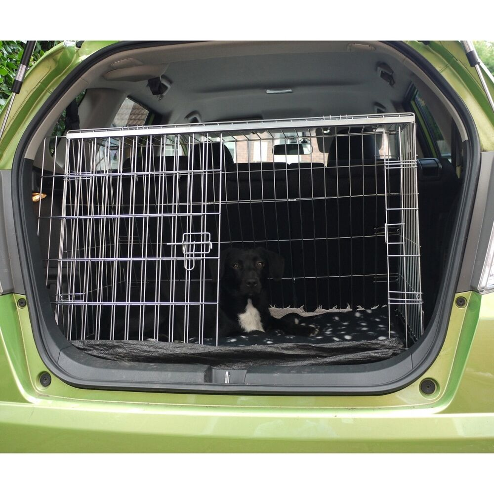 HONDA JAZZ SLOPING CAR DOG CAGE BOOT TRAVEL CRATE PUPPY