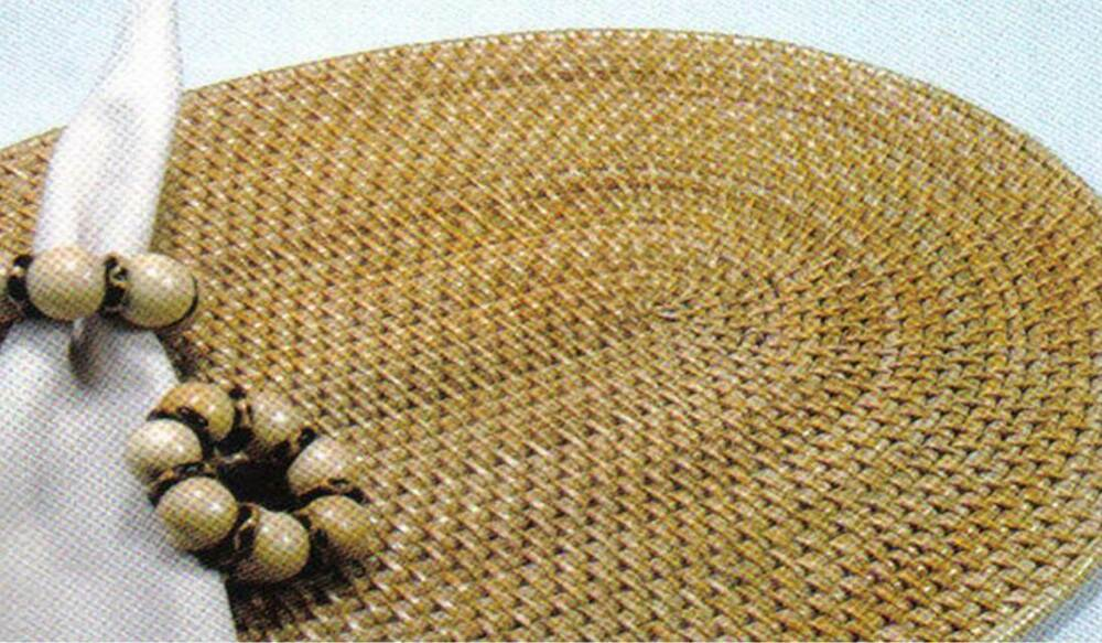 Woven Placemats Rattan Oval Place Mats For Round Tables Set Of Four 18 X 14 Inch 672458168979