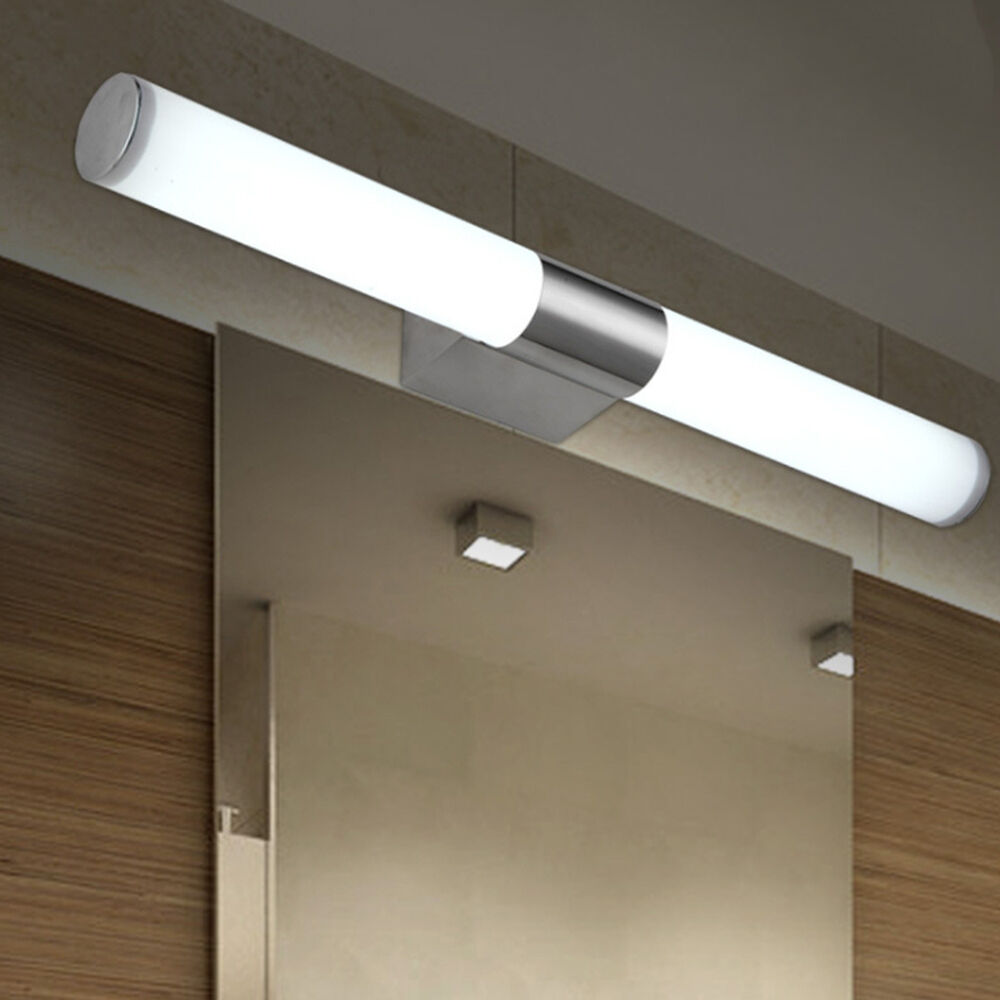 Modern bathroom mirror lights led brief tube wall light for Light fixtures for bathrooms
