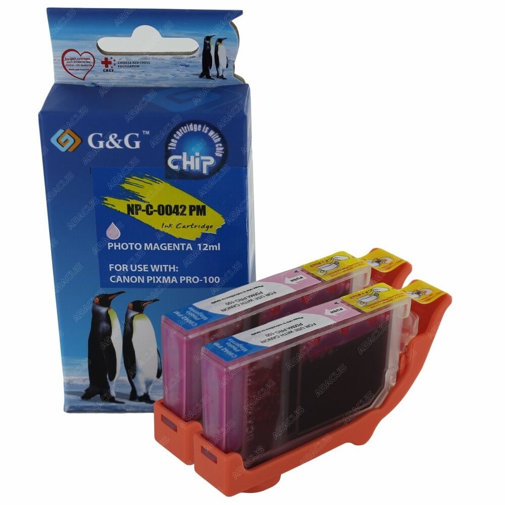 2 PACK CLI 42 Photo Magenta Ink Cartridge Tank For Canon