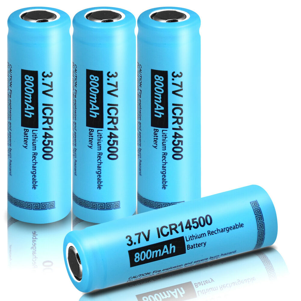 4x 3 7v icr 14500 battery aa size li ion lithium rechargeable batteries pkcell ebay. Black Bedroom Furniture Sets. Home Design Ideas