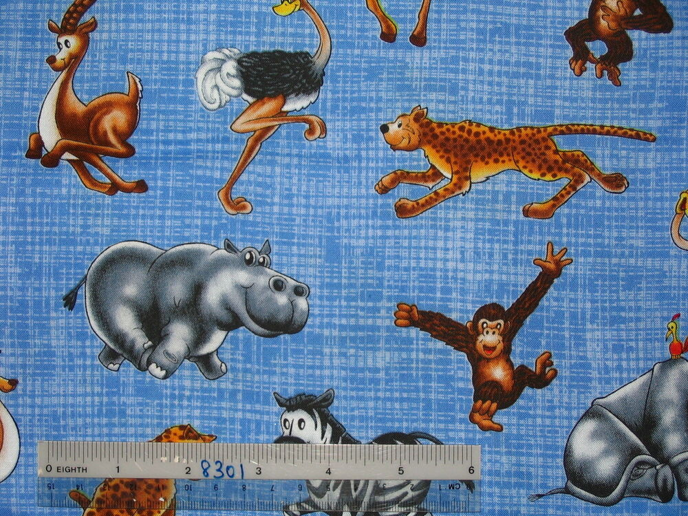 Choose design safari jungle zoo animals children cotton for Childrens jungle fabric