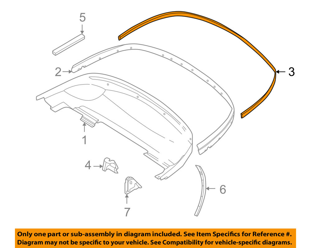 Bmw Oem 96 02 Z3 Convertible Soft Top Cover Gasket 51718397931 Ebay