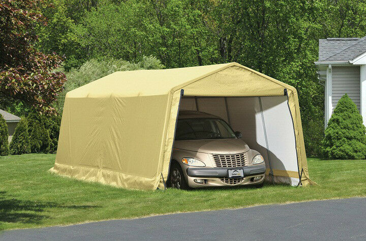 Metal Car Shelter 10x20 : Shelterlogic storage shelter portable garage steel