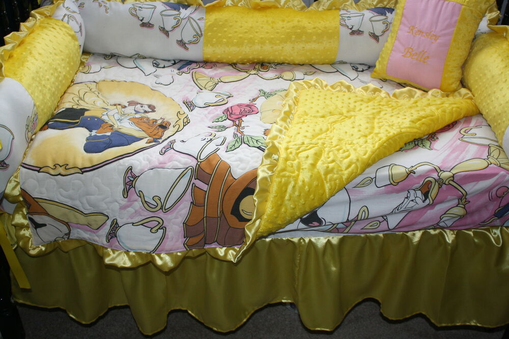 5 Pc Beauty And The Beast Baby Bedding Set Free