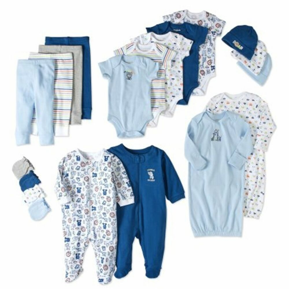 Baby Boy Clothing Sets We know shopping for a growing baby can be overwhelming, so we've put together the perfect baby boy clothing sets for you. Our baby boy outfits will make shopping for an adorable, matching outfit hassle free.
