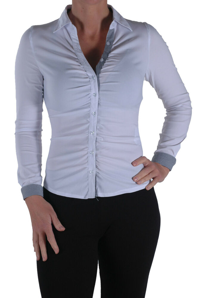 New Casual Gia Womens Smart Office Work Long Sleeve Plain