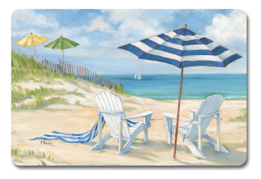 Placemats Vinyl Place Mats Table Linens Garden Nautical