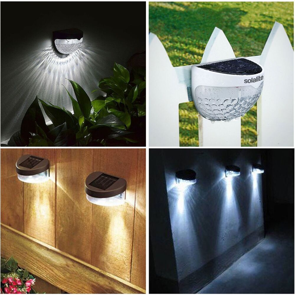 SOLAR POWERED FENCE LIGHTS WALL DOOR STEP SMD LED LIGHT OUTDOOR GARDEN LIGHTING eBay