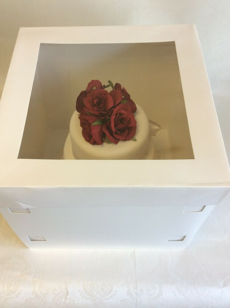 wedding cake boxes for transporting cake boxes with window clear lid for tiered and 22067