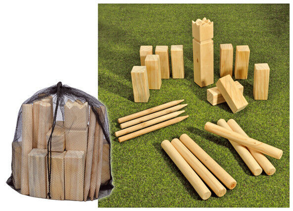 kubb spiel outdoor holzspielzeug wurfspiel rasenschach gartenspiel rasenspiel ebay. Black Bedroom Furniture Sets. Home Design Ideas