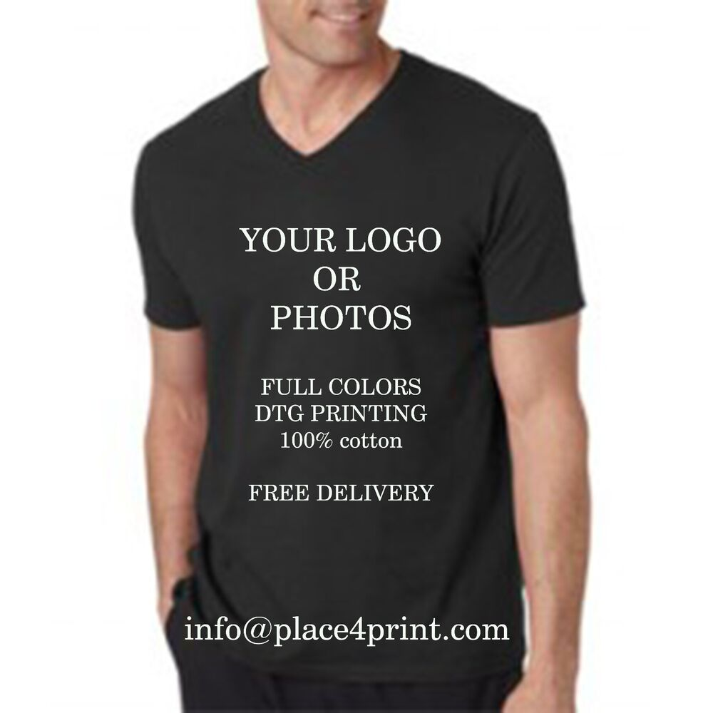 Custom Personalized Full Color Printed T Shirt Only