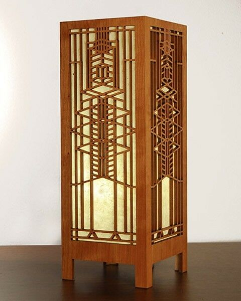 Wright Brothers Stained Glass Lamp : Frank lloyd wright frederick robie house window