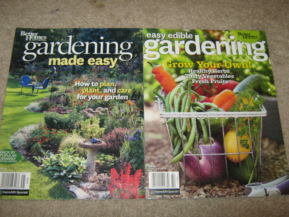 Lot 2 Gardening Easy Edible Grow Your Own Made Easy How