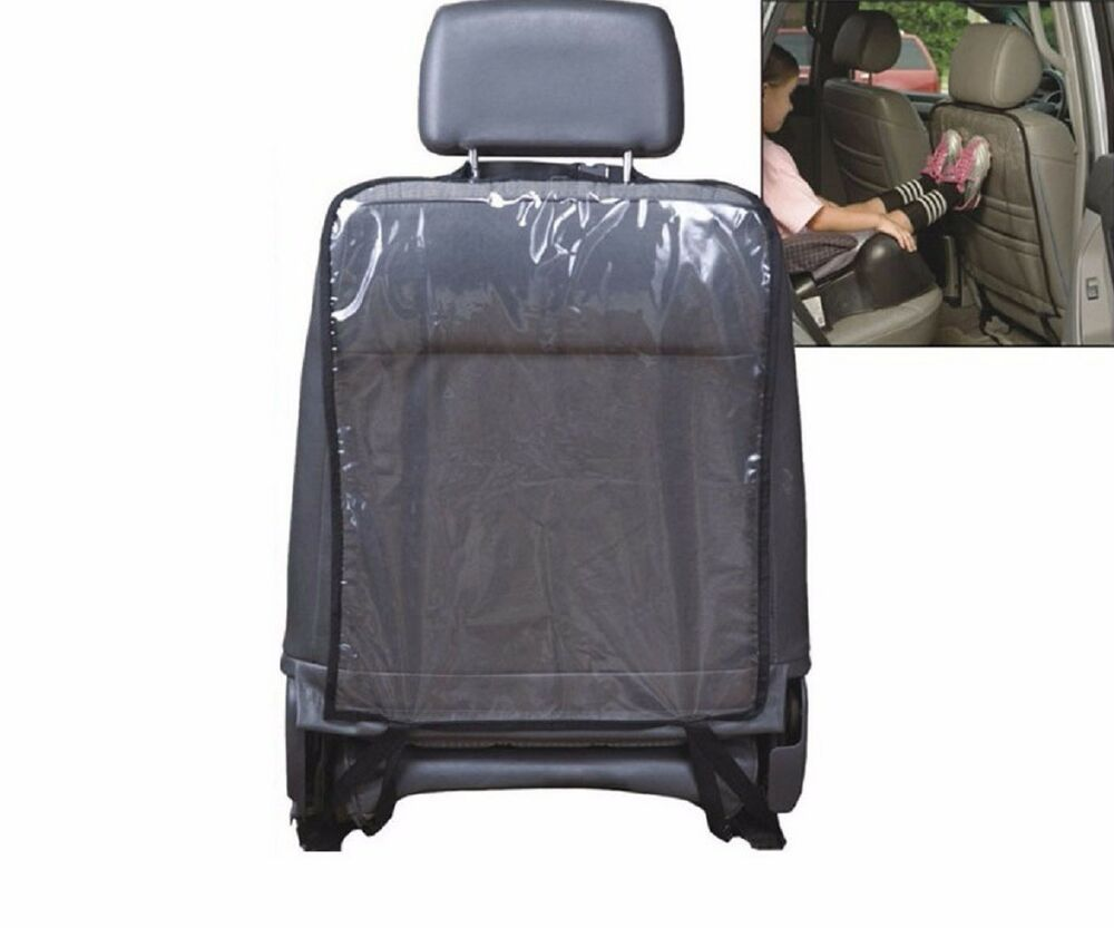 car seat back cover kick mat protector clear transparent universal fit ebay. Black Bedroom Furniture Sets. Home Design Ideas