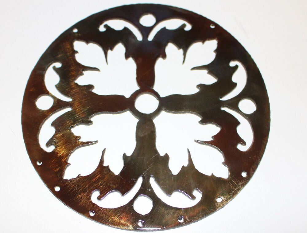 Ornamental circle copper bronze plated metal wall decor ebay for Circle wall art