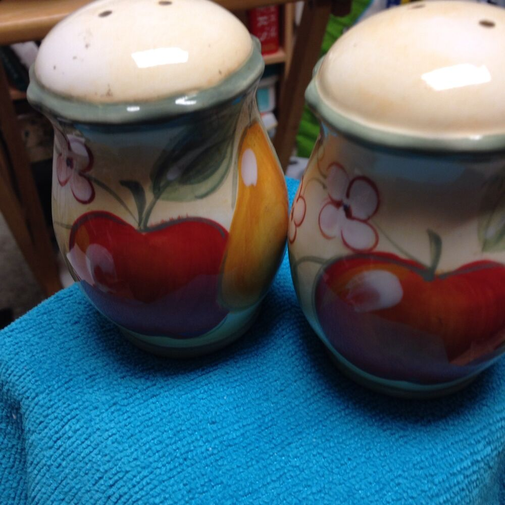 Home China Salt And Pepper Shakers In Euc Ebay