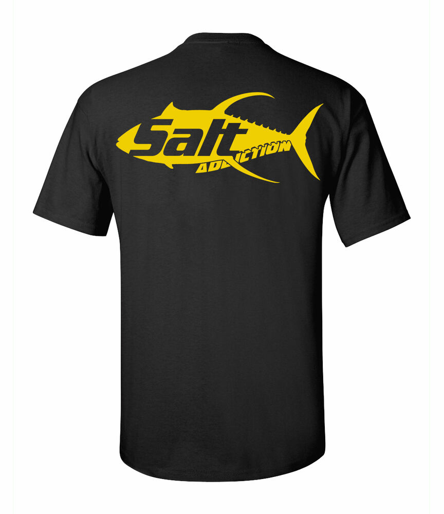 Salt addiction yellow fin fishing t shirt saltwater for Fishing shirts on sale