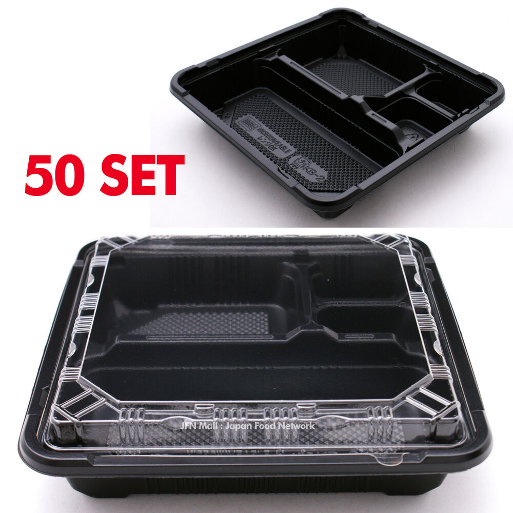 100pcs disposable container take away bento lunch box kb 2 bpa free ebay. Black Bedroom Furniture Sets. Home Design Ideas