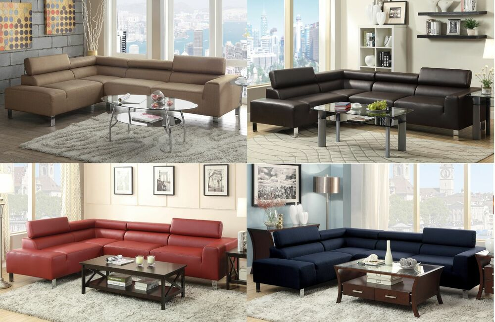 Sectional sofa Couch w wide seating & Adjustable Head rest ...