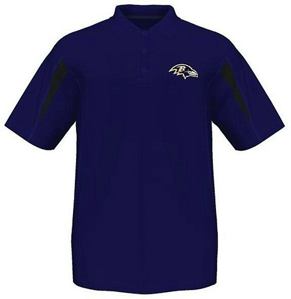 Baltimore ravens nfl moist management synthetic mens polo for Polo shirts tall sizes