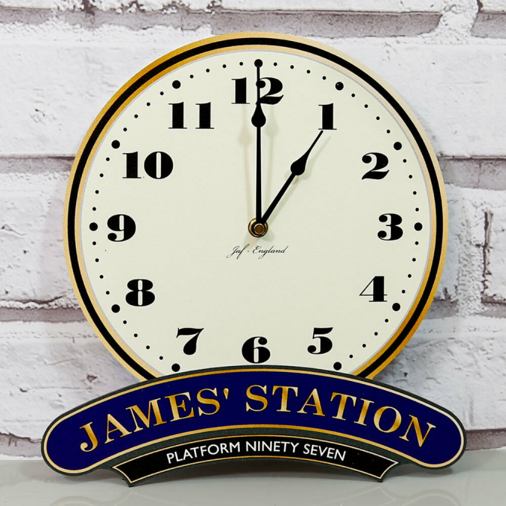 Personalised Railway Station Clock, Train Station Clock ...