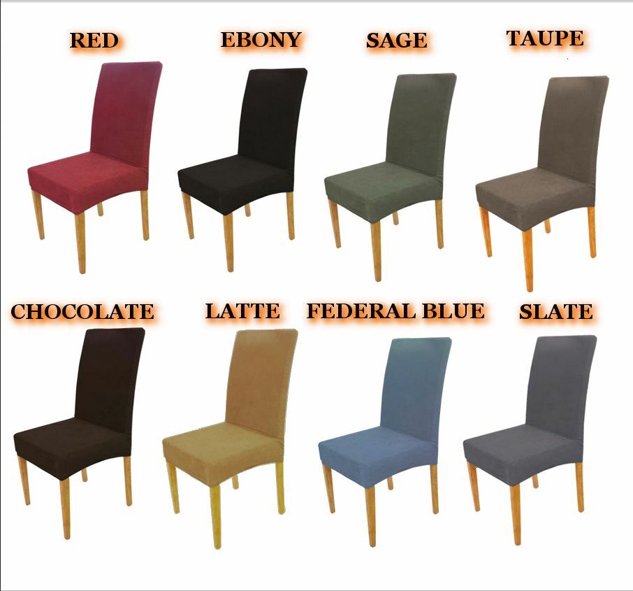 Surefit Stretch Dining Chair Covers Red Ebony Sage Taupe