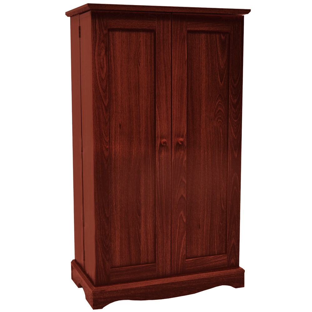 richmond media cd dvd storage cabinet mahogany ms0496 ebay. Black Bedroom Furniture Sets. Home Design Ideas
