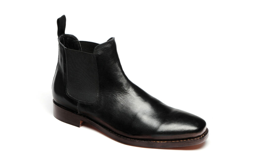 mens catesby 3013 black all leather goodyear welted sole