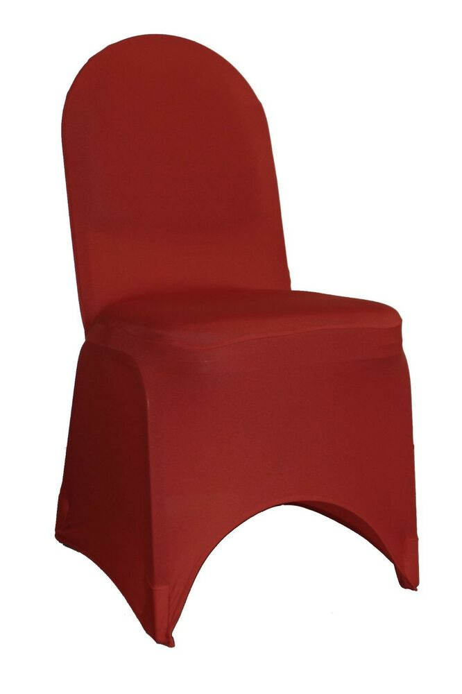 Spandex Banquet Chair Covers Burgundy